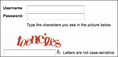 Example of a Web Form with a Captcha