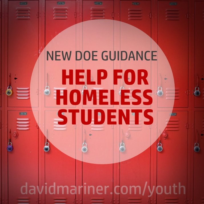 DOE Guidance Provides Help for Homeless Youth
