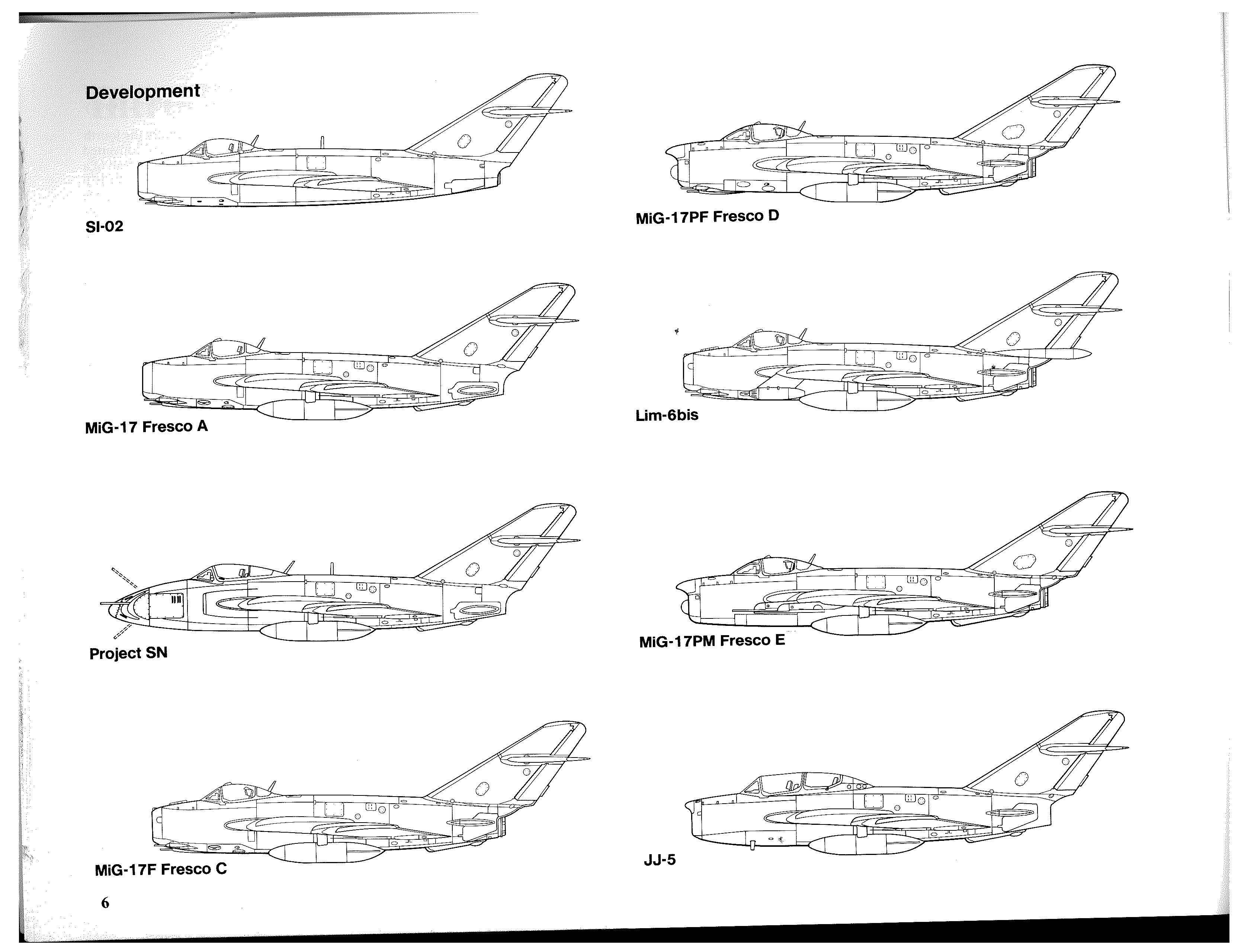 MiG-17 drawings