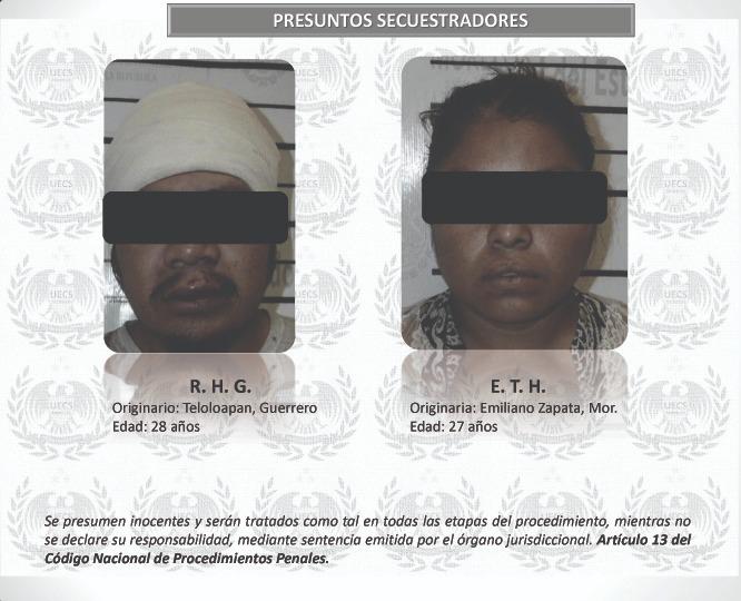 Detienen a dos presuntos secuestradores en Acatlipa