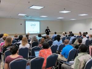 David Needham speaking at DrupalCamp DC