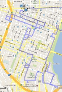 Google Maps directions for public transit in portant