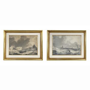 Pair of Marine Gouaches by Anthony Woldorf.