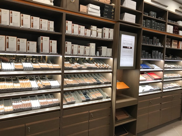 Enjoy the wide selection of cigars available in our cigar humidor.