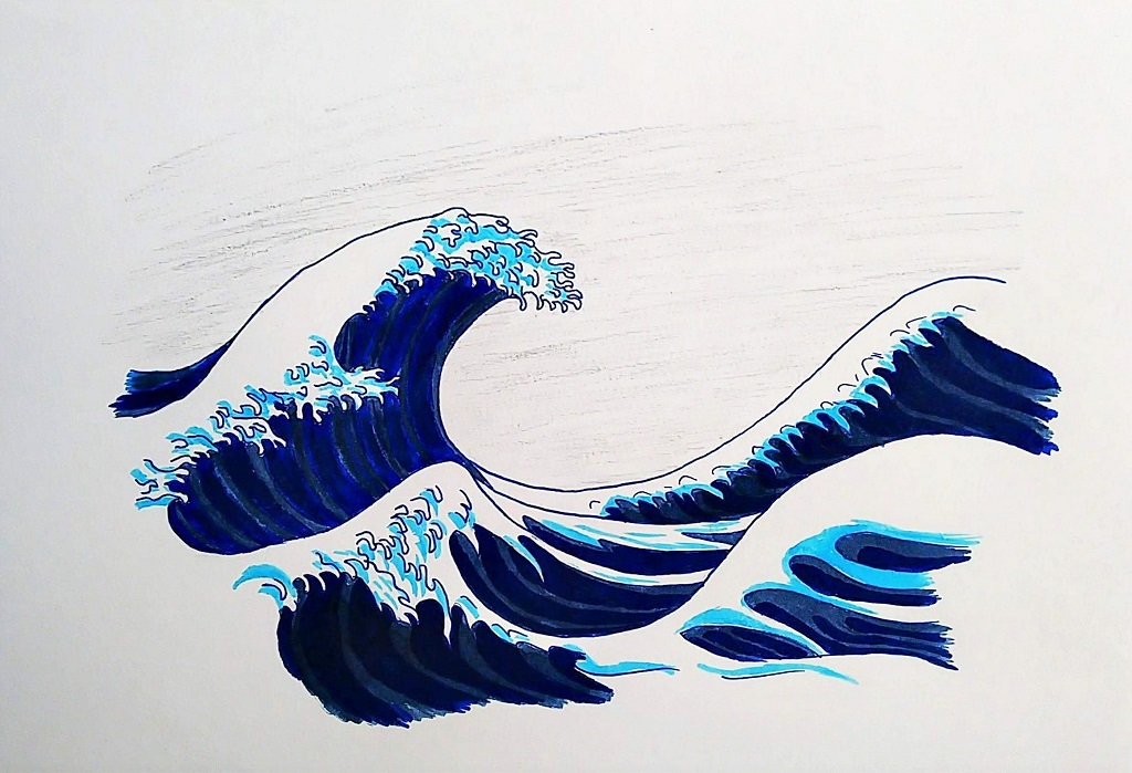 Wave (Inktober 52 – Week 9)