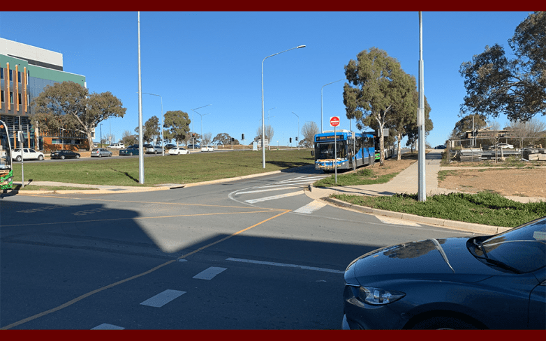 Intersection at Efkarpidis Street and Gungahlin Place