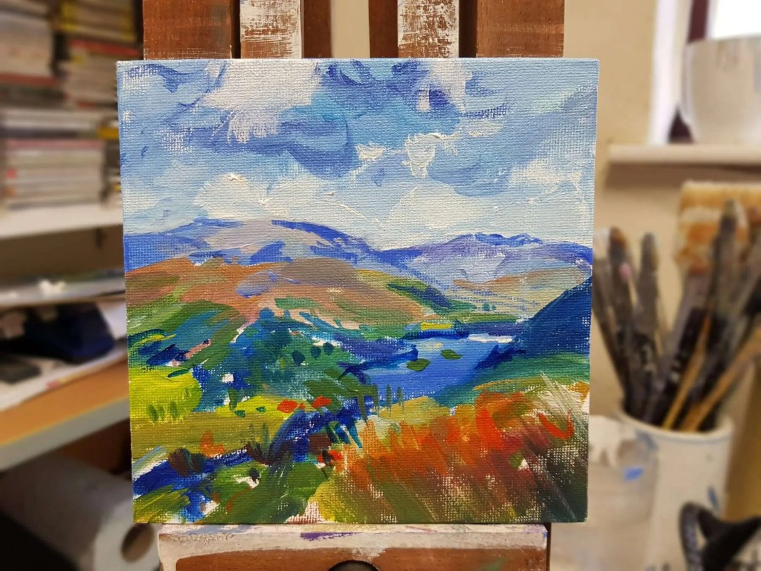 Rydal Water and Loughrigg Fell Detail 01