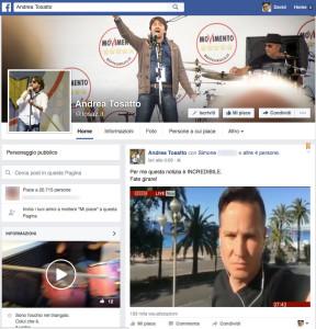 La pagina e il video di Tosatto