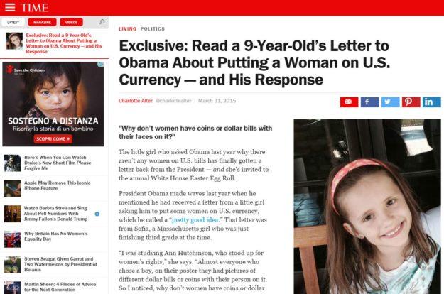 L'articolo del Time.com del 2015