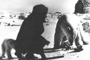 Nikolai, gli orsi e la carne a loro offerta