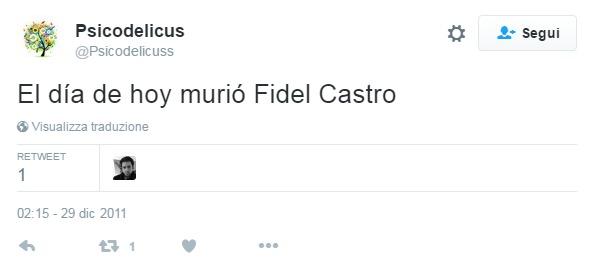 Uno dei tanti tweet del 2011