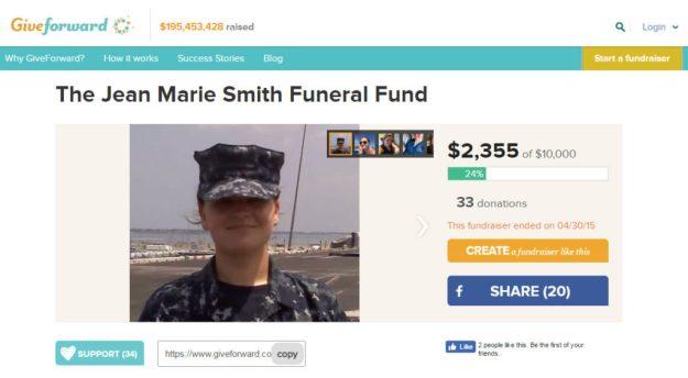 La raccolta fondi online per il funerale di Jean Marie Smith