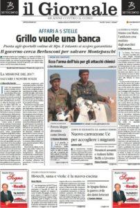 Il titolone in prima pagina