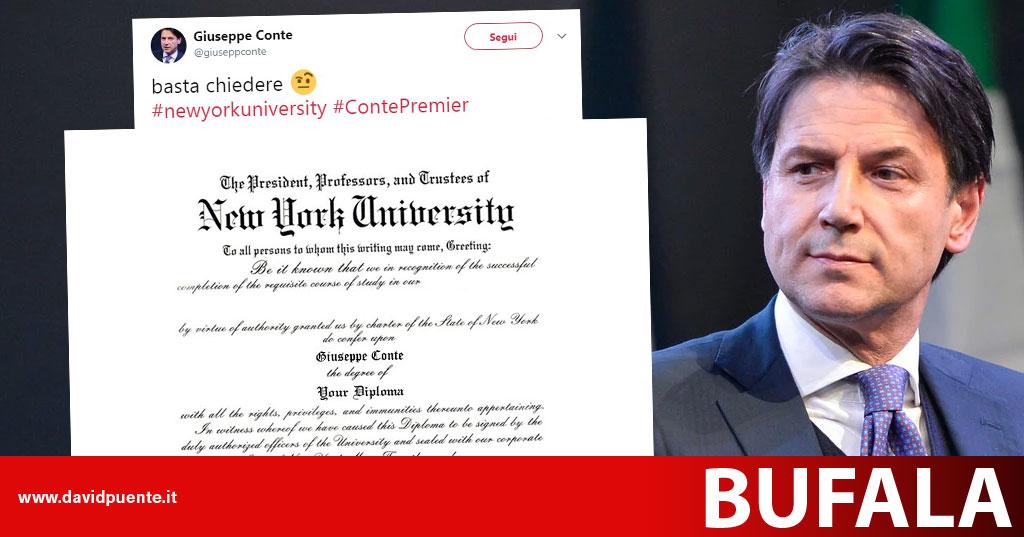 il falso diploma e il falso account di giuseppe conte su twitter