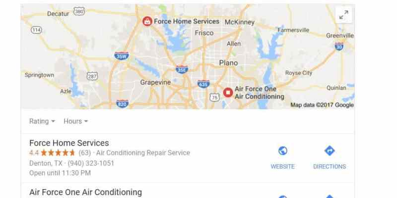 Force Home Services Keyword Ranking & Google My Business Report