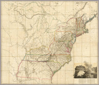 United States Of North America Arrowsmith Aaron 1808