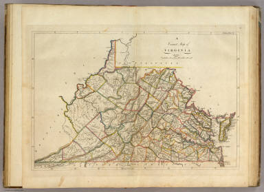 Map of Virginia    Carey  Mathew   1814