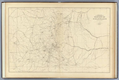 Triangulation Map of Colorado    Hayden  F V    1881