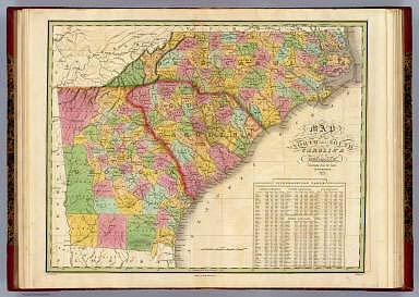 Map Of North and South Carolina And Georgia    Finley  Anthony   1826