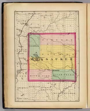 Map Of Missaukee County Michigan Walling H F 1873
