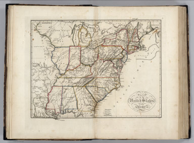 Browse All   Images of United States from 1818   David Rumsey     United States of America