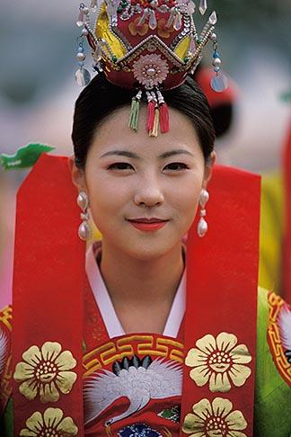 South Korea Andong Mask Dance Festival Girl In