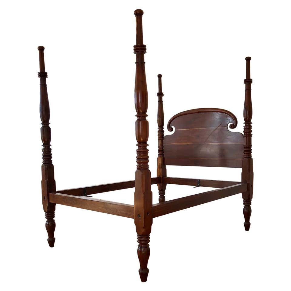 st croix regency four poster mahogany queen bed 19th century