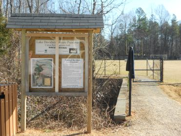 Entrance Sign to the Lake Davidson Nature Preserve