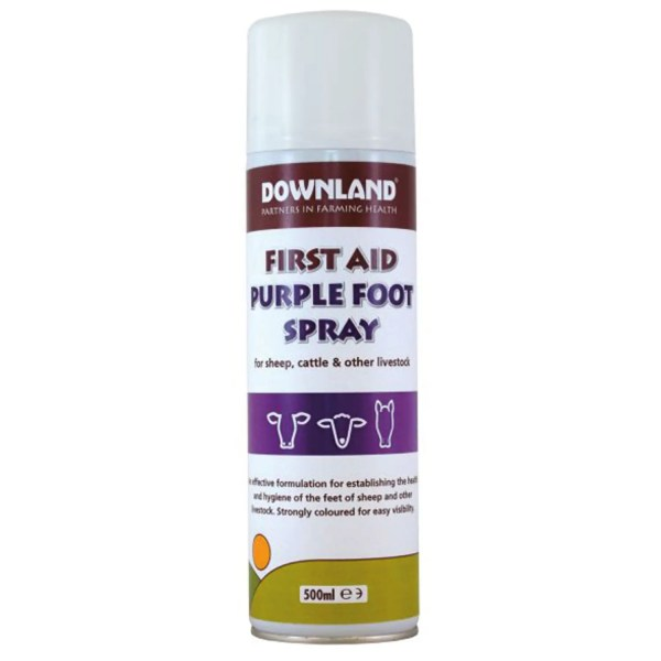 DOWNLAND FIRST AID PURPLE FOOT SPRAY 500ML-8530