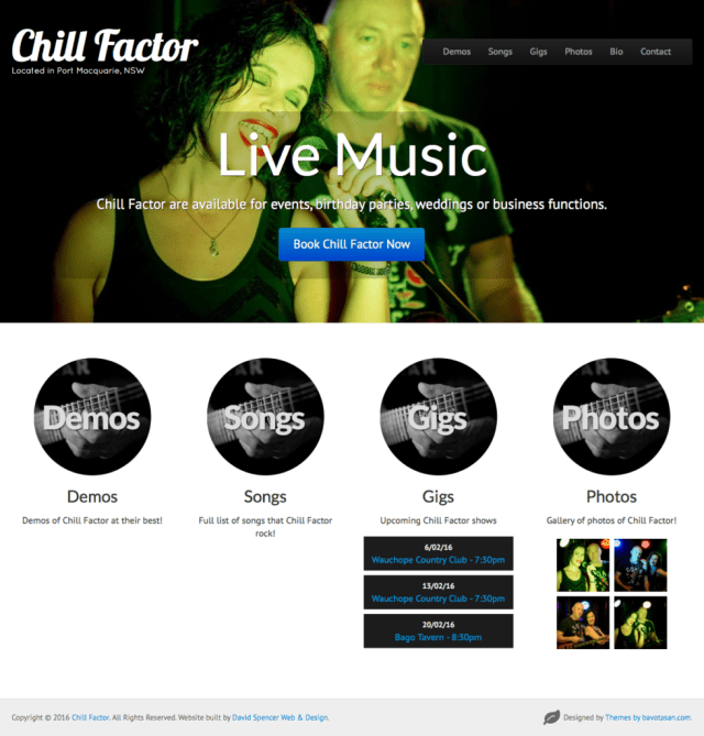 New Website Launch: Chill Factor (www.chillfactormusic.com.au)