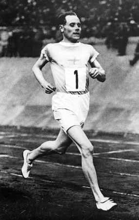 El atleta estrella, el finlandés Paavo Nurmi