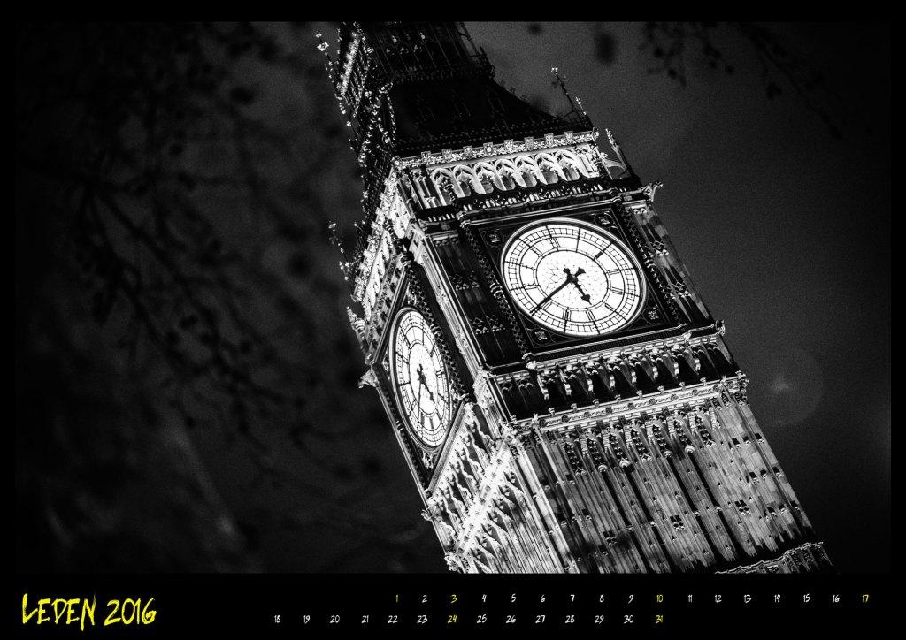 Kalendář London street 2016