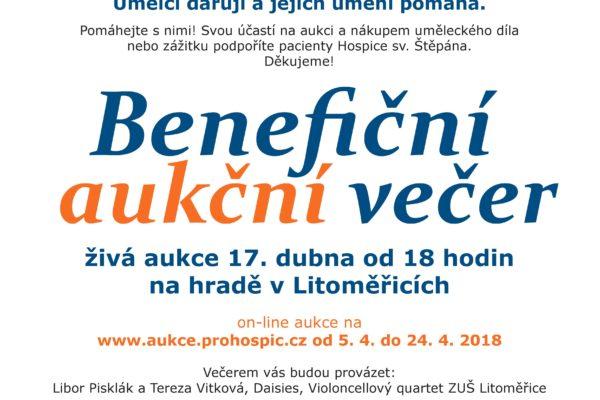 Benefiční aukční večer pro Hospic sv. Štěpána v Litoměřicích | úterý 17. dubna 2018 na hradě v Litoměřicích