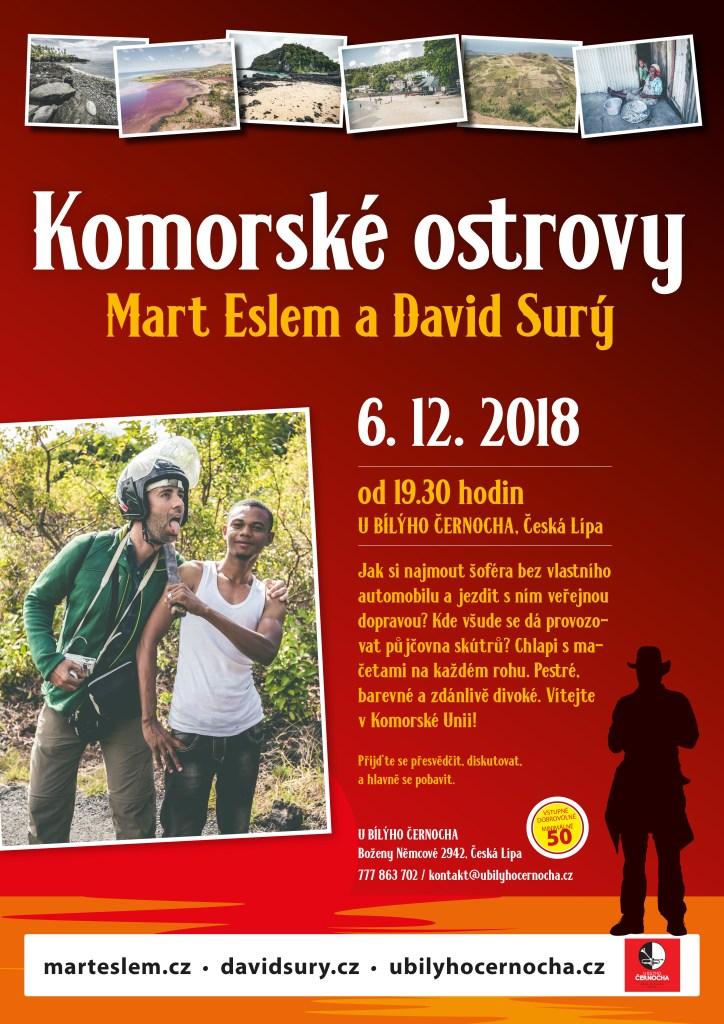 Komorské ostrovy – beseda (Česká Lípa) U bílýho černocha David Surý Mart Eslem