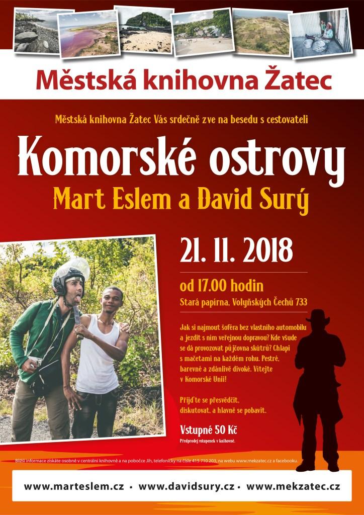 Komorské ostrovy – beseda (Žatec) Knihovna Žatec David Surý Mart Eslem