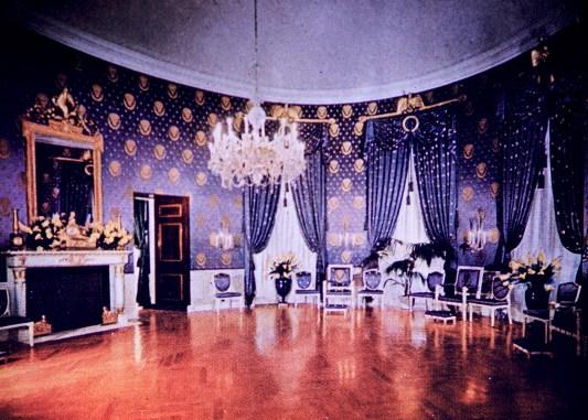 White House - Blue Room After Restoration