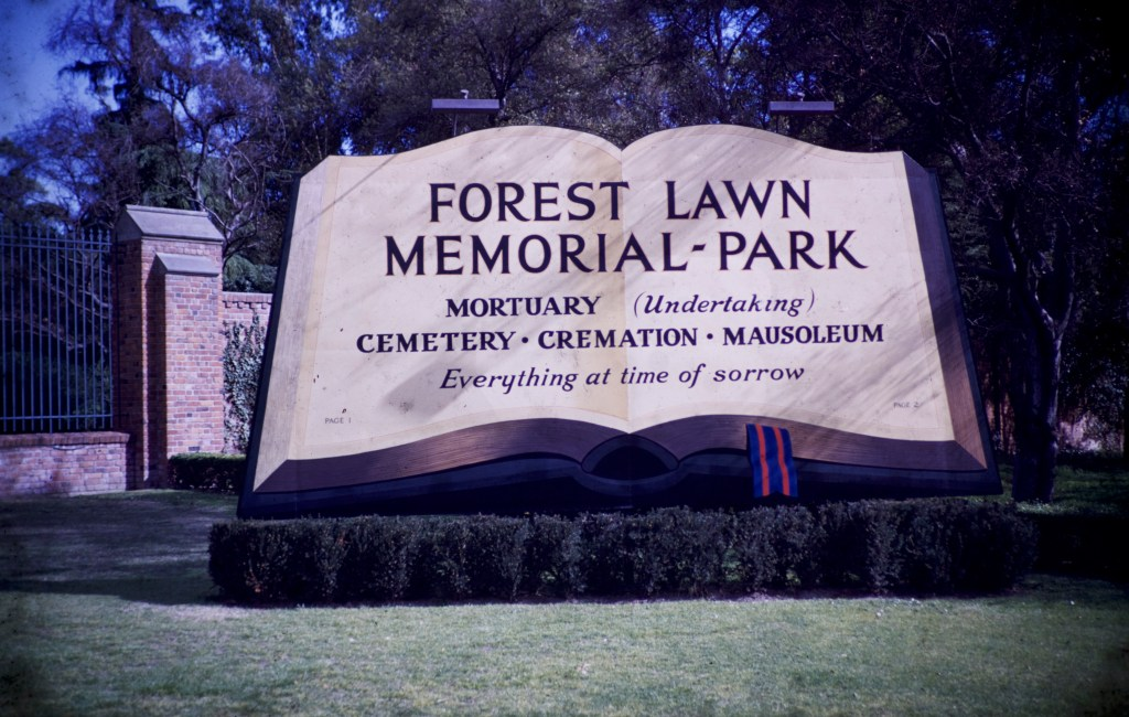 Forest Lawn – Entrance Sign