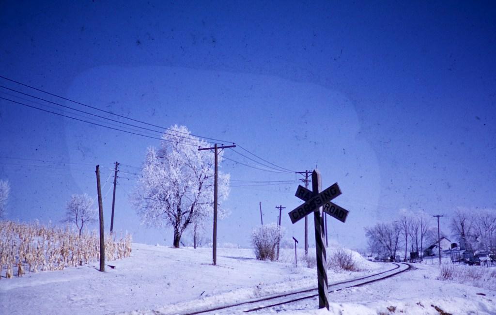 Winter – Railroad Crossing