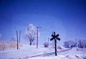 Winter - Railroad Crossing