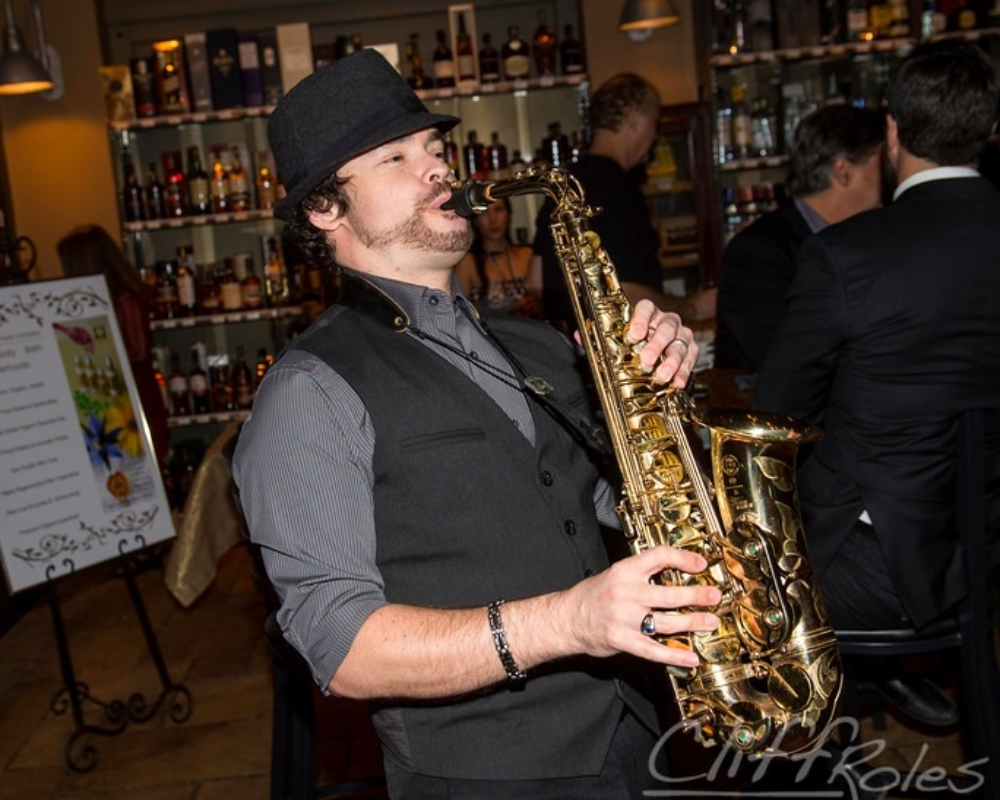 Wine Cellar Saxophonist