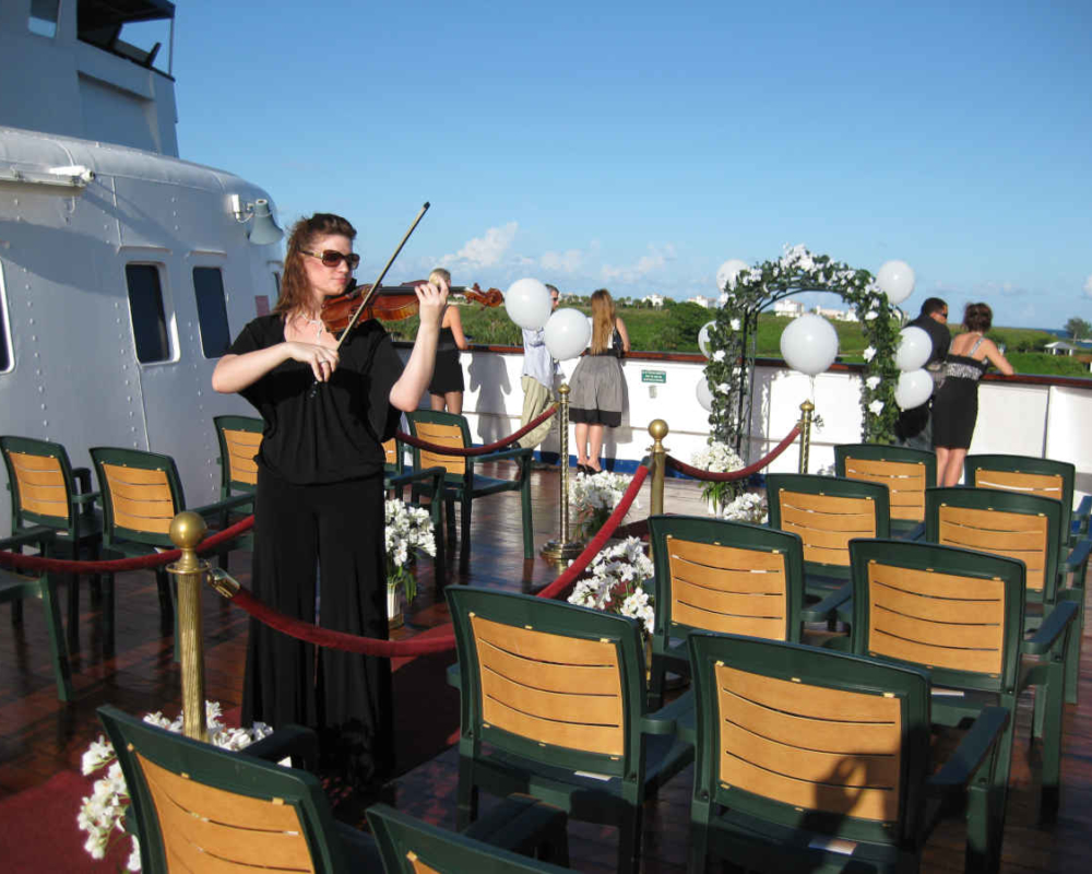 Violin Wedding at Sea