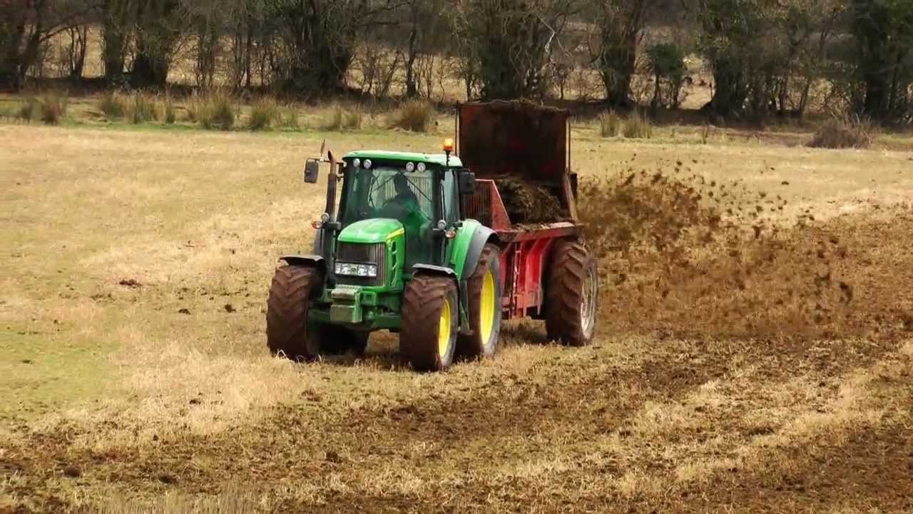 Tractor and Muck Spreader