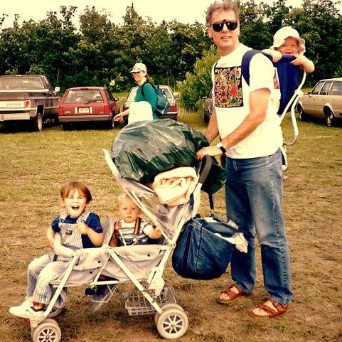 David and Children at Bird's Hill 20 Years Ago