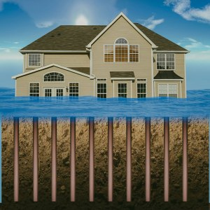 flooded home without davie shoring