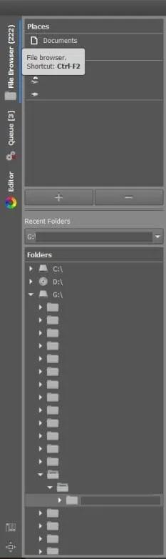 RAWTherapee File Browser