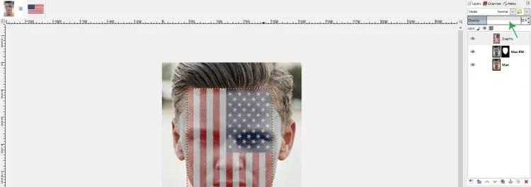Smanjite neprozirnost grafičkog sloja GIMP