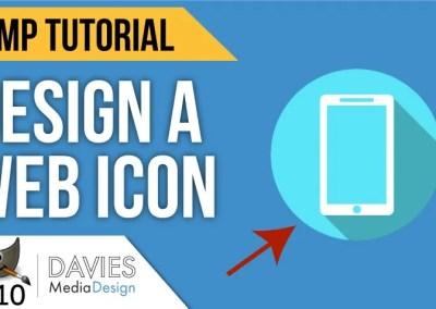 GIMP Tutorial: How to Design a Web Icon in GIMP 2.10 (2018)