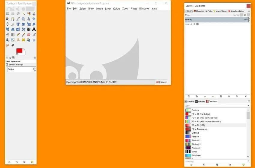 GIMP Multi Window Mode