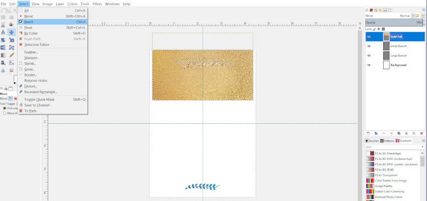 Alt Kattintson a Képre, és válassza a Invertert a GIMP-ben