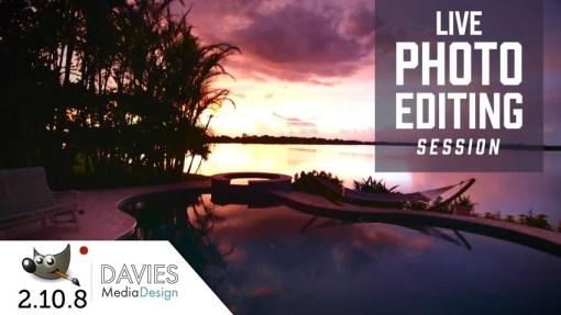 GIMP 2.10 Live Photo Editing Session (12/21) Sunset Photography